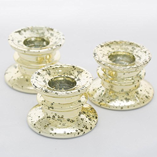 Richland Athena Taper Candle Holder Gold Set of 12