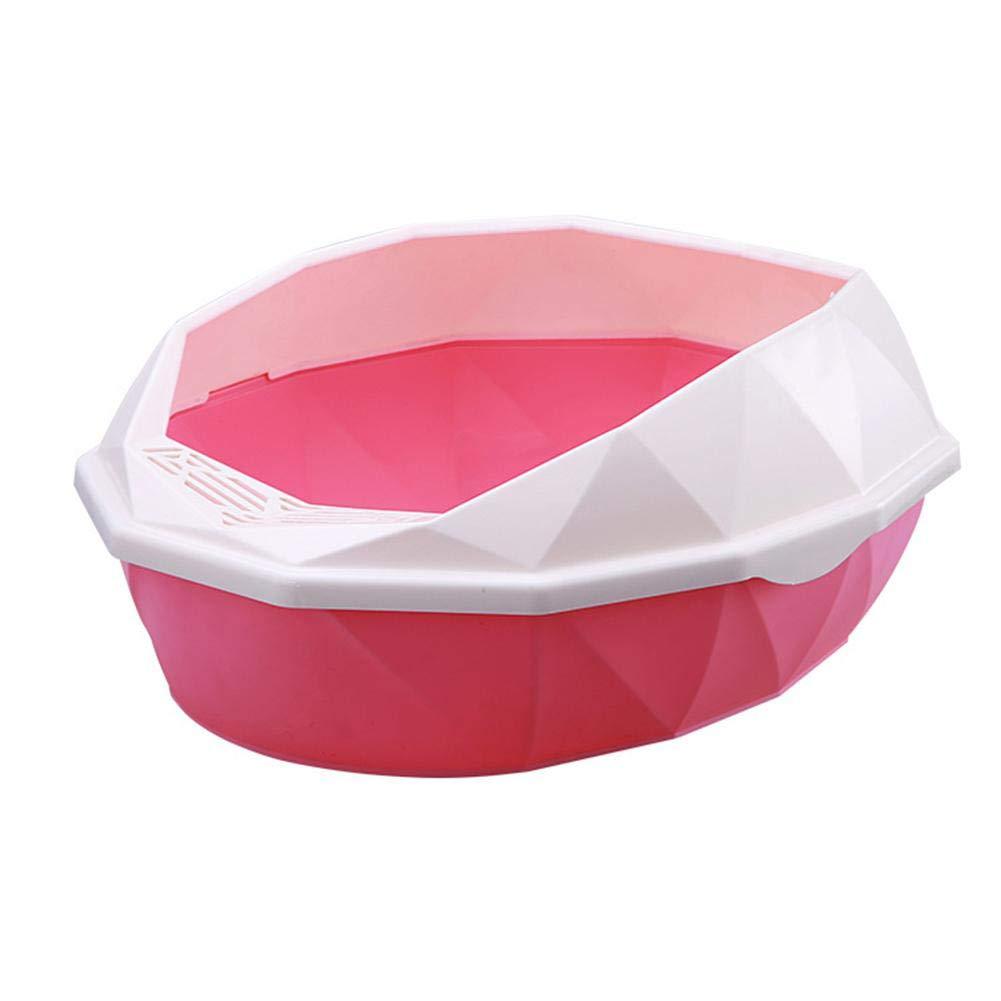 Heitaisi Cat Litter Box Pot Round Potty Semi Closed Cat Toilet Training by Heitaisi