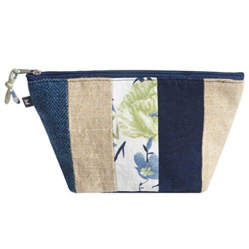 Patchwork Earth Squared Trade Make by Fair Blue Bag Handbag Up afaPrwq
