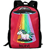 Backpack Rainbow UFO Pride Unicorn Womens Laptop Backpacks Shoulder Bag Travel Daypack