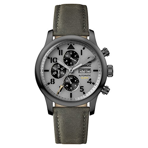 Ingersoll Men's Automatic Stainless Steel and Leather Casual Watch, Color:Grey (Model: I01401)