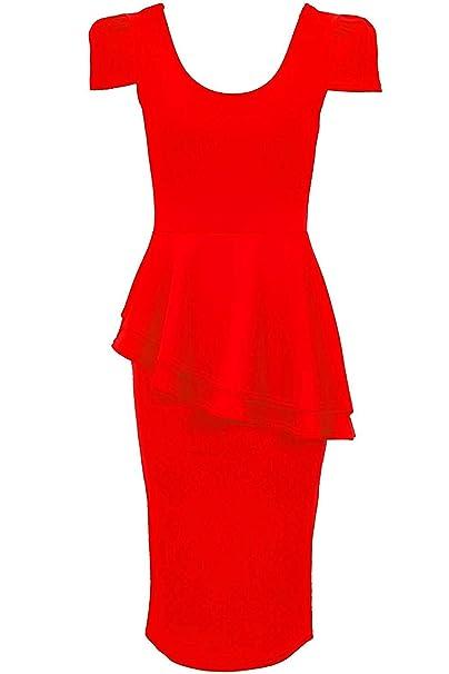 sale retailer 9bbbc bb846 Fantasia Boutique - Vestito - Donna rosso 36: Amazon.it ...