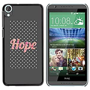 TaiTech / Hard Protective Case Cover - Glitter Gray Text Motivational - HTC Desire 820