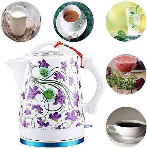 Leilims Bouilloires Bouilloire électrique en céramique, sans Fil 1.7 litres Tea Pot, Arrêt Automatique à Sec Protection-Boil, 1500W Rapide
