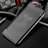 Trifty Smooth Mirror View Flip Cover For Samsung Galaxy A7 2016(NOT FOR A7 2015) - Black