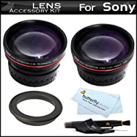 Vivitar Lens Kit For Sony a7 a7R A58, A55, A33, A35, A65, A57 a99 DSLR SLT A55, SLT A33, SLT-a35, SLT-A58K Includes 0.43x HD Wide Angle lens w/Macro + 2x Telephoto Lens + Lens Pen Cleaning Kit + More