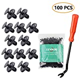 EZYKOO 100pcs Push-Type Retainer Lexus Toyota Body Clips,Splash Shield Clips 90467-07201 Replacement Fasteners, Quality Nylon Push Rivets Bonus Fastener Remover