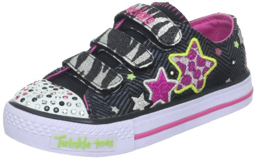 Twinkle Toes By Skechers Shuffles Wild Star Bambina Nero 33,5 EU