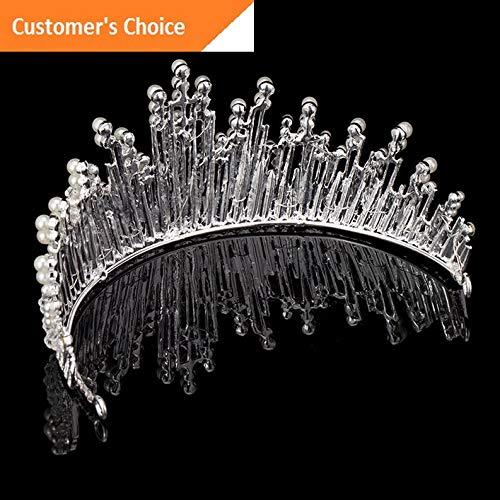 Werrox Wedding Bridal Pearl Flower Crystal Hair Pin Clip Hair Band Crown Tiara Headwear | Model HRPN - 632 | -