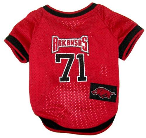 NCAA Dog Jersey, Large, University of Arkansas Razorbacks