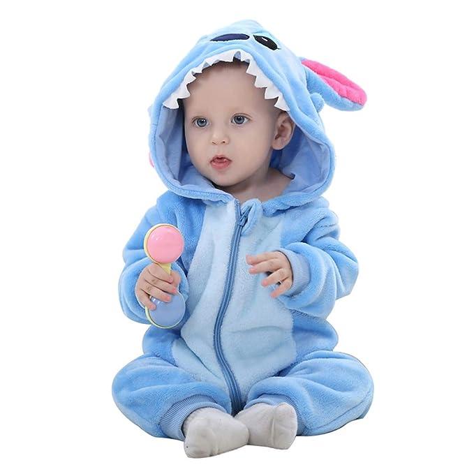Joeyan Bebé recién Nacido con Capucha Mameluco para niños pequeños ...