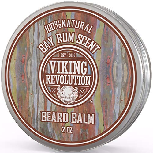 Bay Rum Beard Balm- All Natural Argan Oil and Jojoba Oil by Viking Revolution
