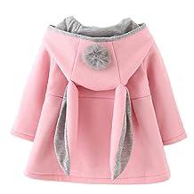 Baby Girl's Toddler Kids Winter Coat Jacket Outwear Hoodie with Ears Hood