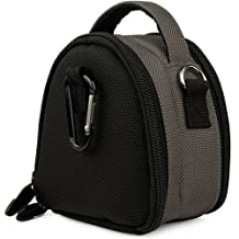 Steel Grey VG Laurel Edition Stylish Nylon Camera Carrying Case Pouch for Canon PowerShot IXUS 1000 HS IXY 50S SD4000 IS IXUS 300 HS IXY 30S SD3500 IS IXUS 210 IXY 10S SD1400 IS IXUS 130 IXY 400F SD1300 IS IXUS 105 IXY 200F SD940 IS IXUS 120 IS SD980 IS IXUS 200 IS SD960 IS IXUS 110 IS SD1200 IS IXUS 95 IS SD780 IS IXUS 100 IS Compact Digital Cameras