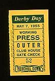 kentucky derby ticket stub - 1955 Kentucky Derby Ticket Churchill Downs 5/7/55 Swaps Willie Shoemaker 23292