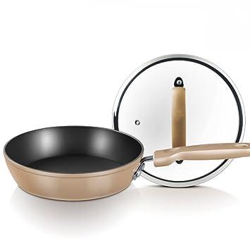 LZK Sartén sartén sartén Antiadherente Fideos Wok Frito Huevo Frito bistec Cocina de inducción Universal,Chroma,1: Amazon.es: Deportes y aire libre