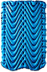 KLYMIT Double V Sleeping Pad, 2 Person, Double Wide (47 inches), Lightweight Comfort for Car Camping, Two Pers