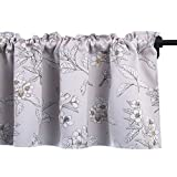 """HOLKING Blackout Window Valance for Bathroom Pastoral Style Valance for Small Windows 18 Inch Long (Rod Pocket,58""""W by 18""""L,1 Panel,Beige"""