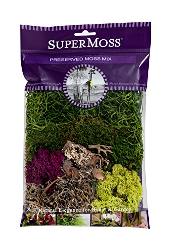 - SuperMoss (23310) Moss Mix Preserved, 2oz (110 Cubic Inch)