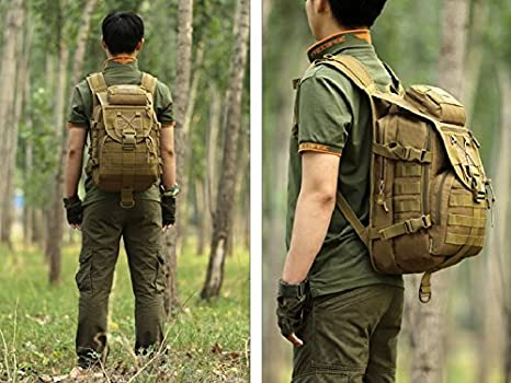 40L Tactical Daypack MOLLE Assault Backpack Pack Military Gear Rucksack