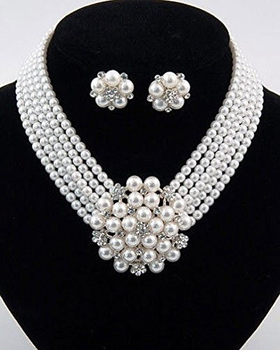 Holly Golightly Necklace Costumes (Breakfast_at_Holly_Golightly_Styled_White_Pearl_Crystal_Costume_Necklace_Set)