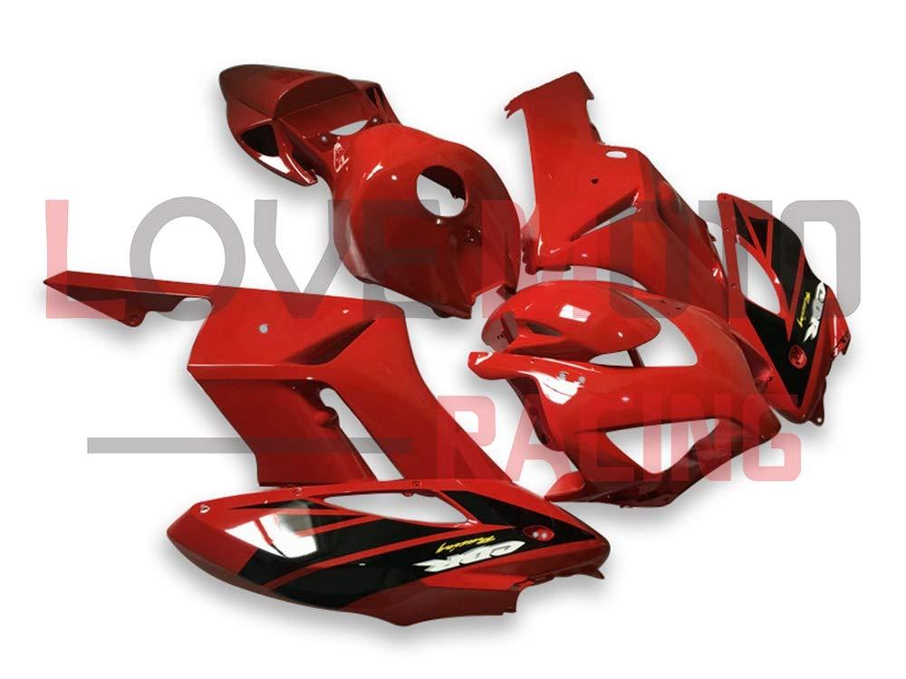 LoveMoto ブルー/イエローフェアリング ホンダ honda CBR1000 RR 2004 2005 04 05 CBR1000RR ABS射出成型プラスチックオートバイフェアリングセットのキット レッド ブラック   B07K81GXDC