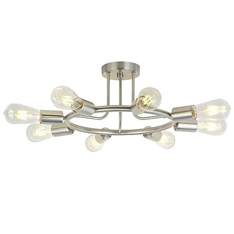 Amazon.com: BONLICHT - Lámpara de techo (níquel cepillado ...