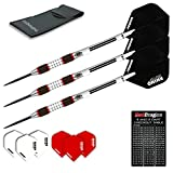 Red Dragon Evos: 28g Tungsten Steel Darts with Winmau Rhino Flights, Shafts, Wallet & Red Dragon Checkout Card