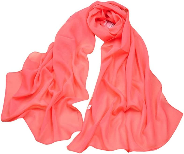 Letuwj Womens Gradient Scarf Solid Color Cappa thin Black Onesize