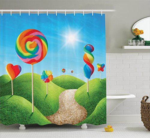 Ambesonne Fantasy House Decor by, Fantasy Candy Land With De