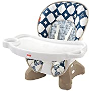 Fisher-Price SpaceSaver High Chair, Navy/White
