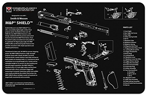 Purchase Smith & Wesson M&P Shield Handgun Cleaning Mat by TekMat, Gun Cleaning Mat with Part Descri...