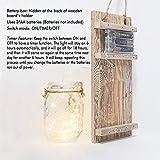 GBtroo Rustic Mason Jar Sconces for Home Decor 6