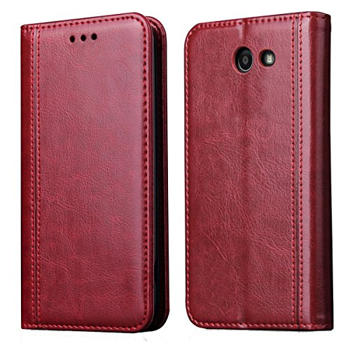 Galaxy J7 Prime Case,Galaxy J7 2017 Case,Galaxy J7 V,J7 Perx ,J7 Sky Pro,Galaxy Halo Case,CH-IC Luxury Leather Wallet Flip Protective Case Cover with Card Slots,Kickstand,Magnetic Closure(Red) by Chic