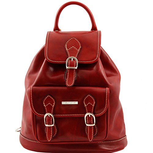 890394 - TUSCANY LEATHER: Singapore Sac à dos en cuir, rouge