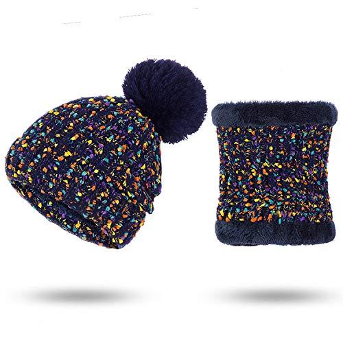Kerr Kellogg Gorro de Invierno y Bufanda para Mujer, Bufanda de Invierno, de algodón, para Invierno, Informal, Color Liso,...