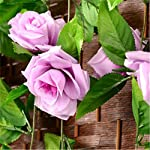 FYYDNZA-250Cm-False-Silk-Roses-Ivy-Artificial-Flowers-With-Green-Leaves-For-Home-Wedding-Decoration-Hanging-GarlandLight-Purple