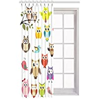 "Cute Owl Blackout Window Curtain/Panel 52"" W X 84"" L (One Panel)"