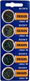 Strip of 5 Genuine Sony CR2025 3v Lithium 2025 Coin Batteries Freshly Packed by Sony