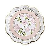 Kate Aspen 28310PK Tea Time Whimsy Paper Plates, Pink