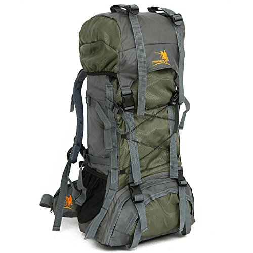 Large Internal Frame - Z ZTDM 55L Internal Frame Backpack Hiking Backpacking Packs Large Capacity for Outdoor Hiking Travel Climbing Camping Mountaineering (Green)