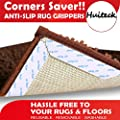 Rug Grippers 8 pcs Anti Curling and Non Slip Rug Gripper Carpet Gripper for Corners and Edges Renewable Gripper for Carpet and Hardwood Floors Safe for Wood Floors Indoor Outdoor Rugs