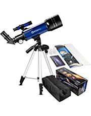 Telescope for Kids Beginners Adults, 70mm Astronomy Refractor Telescope with Adjustable Tripod & Carry Bag- Perfect Telescope Gift for Kids