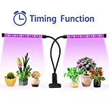 Lovebay Timing Function Dual Head Grow Light 36 LED 4 Dimmable Levels Grow