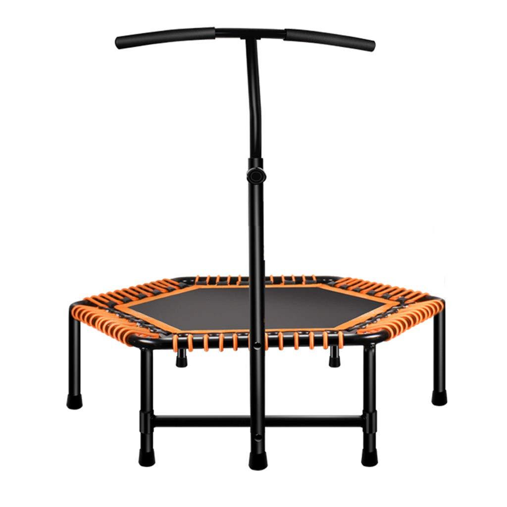 Trampolin Home-Fitness-Studio Indoor Erwachsenen stilles springenden (Farbe : Orange, Größe : 48inch)