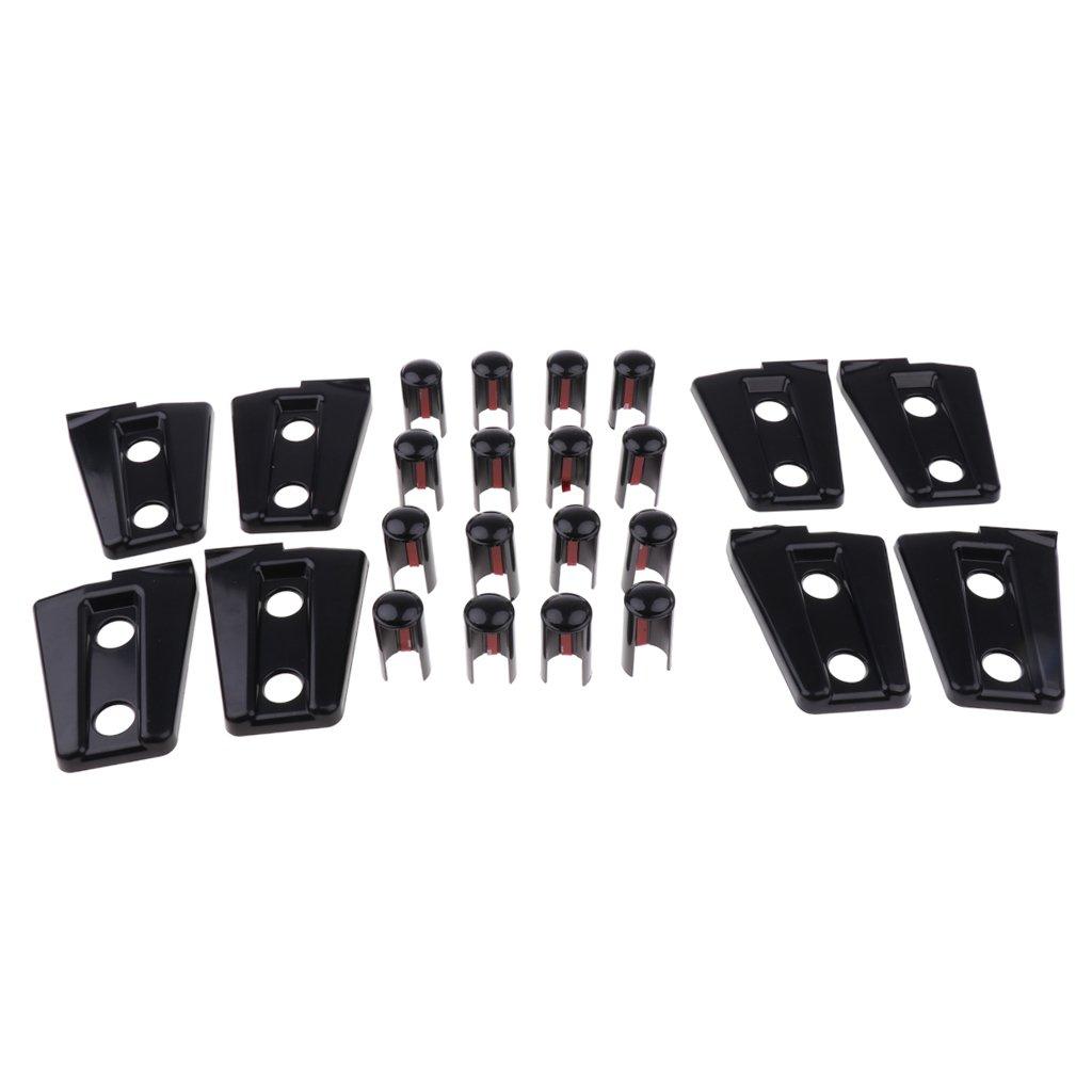 MagiDeal 8Pcs 4 Door Hinge Cover Hinge Set Kit For Jeep Wrangler 2007-2017