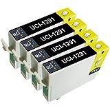 UCI 4 Negro cartuchos de tinta compatibles reemplazado Epson T1291 T1292 T1293 T1294 T1295 para Epson Impresora ( No-Original )