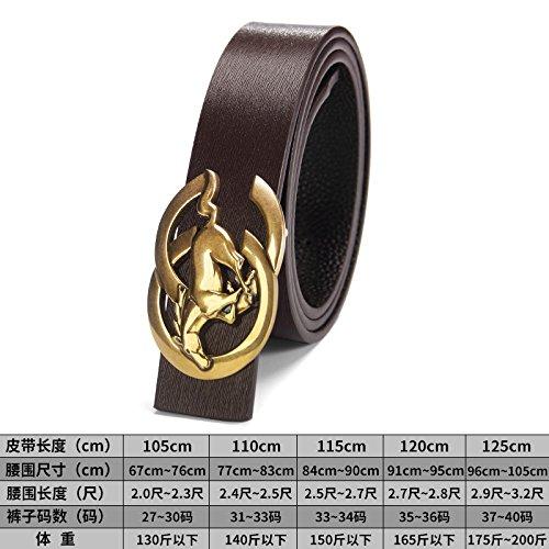 LLZZPPD Cinturón Cinturones Cinturón Juvenil De Hebilla Lisa De Los Hombres  Cinturón Boda ec8310422821