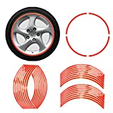 "E-TING 17"" Red Reflective Motorcycle Wheel Rim Stripe Decal Tape Sticker Decor NEW 1pc"