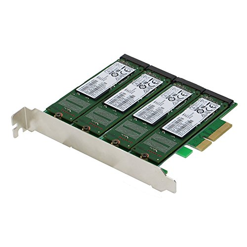 - SEDNA - PCIe Quad M.2 SSD SATA 6G 4 Port Raid Adapter with HyoperDuo Hard disk acceleration function (SSD not included)